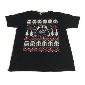 Star Wars Christmas Sweater T-Shirt Darth Vader L